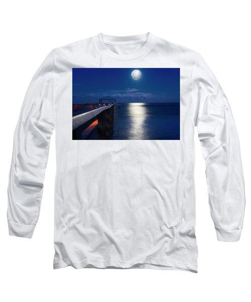 Super Moon At Juno Long Sleeve T-Shirt