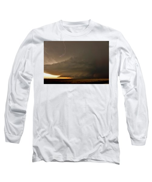 Supercell In Kansas Long Sleeve T-Shirt by Ed Sweeney