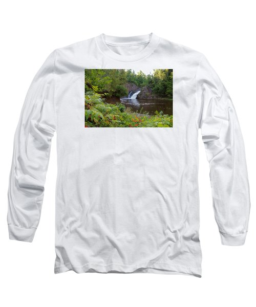 Long Sleeve T-Shirt featuring the photograph Superior Falls by Sandra Updyke