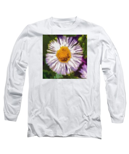 Long Sleeve T-Shirt featuring the photograph Supernove Daisy by Spyder Webb