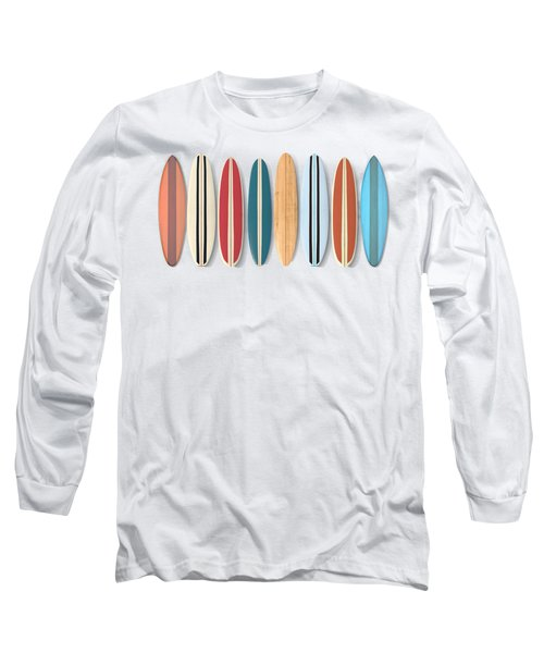 Surf Boards Row Long Sleeve T-Shirt