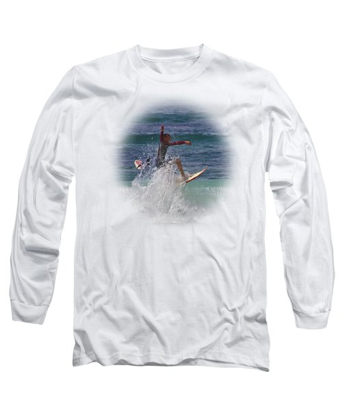 Surf Dude On Transparent Background Long Sleeve T-Shirt