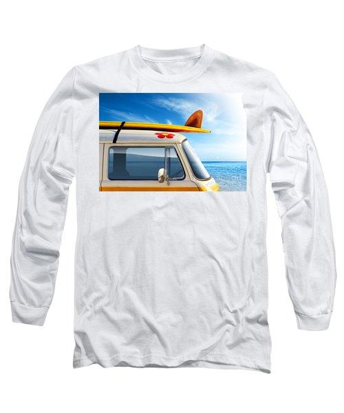 Surf Van Long Sleeve T-Shirt by Carlos Caetano