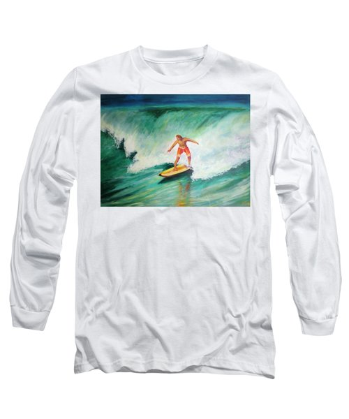 Surfer Dude Long Sleeve T-Shirt by Patricia Piffath