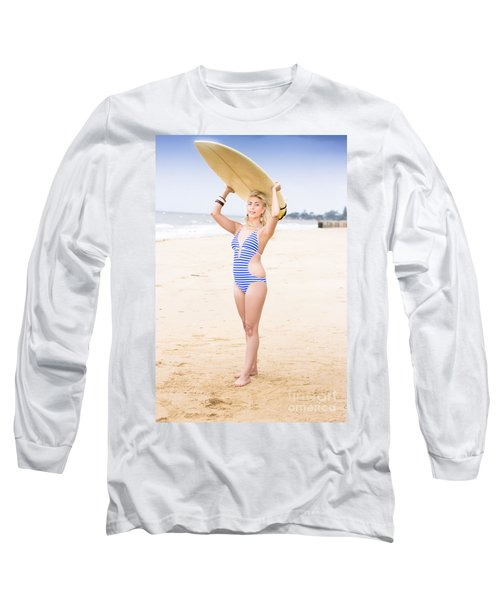 Surfer Woman Long Sleeve T-Shirt