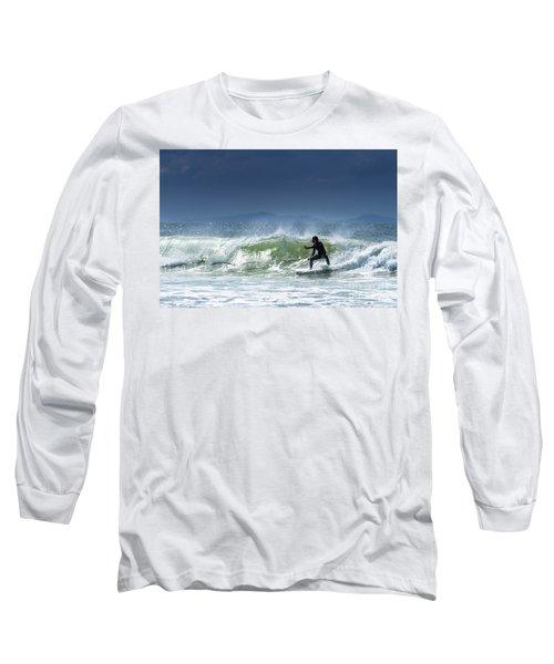 Surfing At Byron Bay Long Sleeve T-Shirt