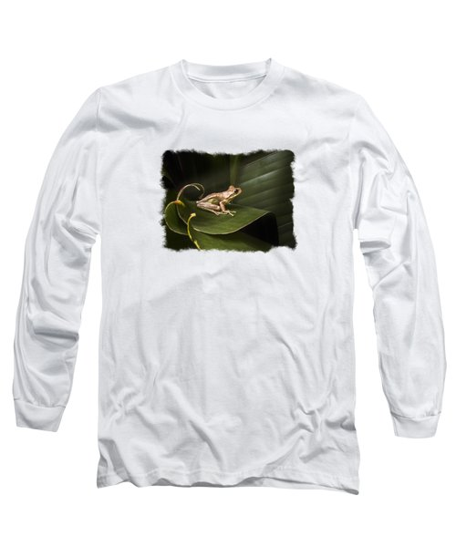 Surfing The Wave Bordered Long Sleeve T-Shirt by Debra and Dave Vanderlaan
