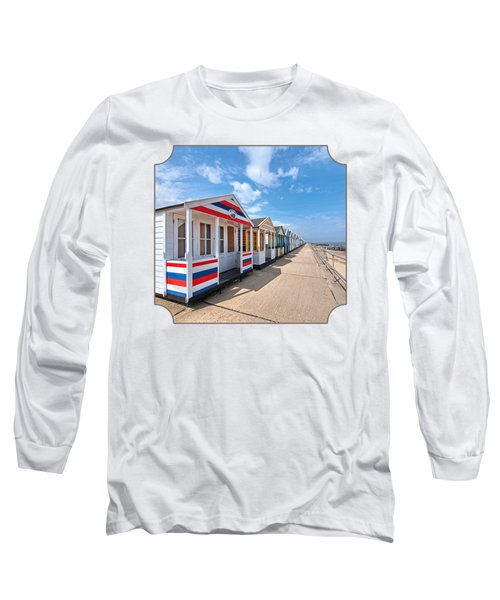 Surf's Up - Colorful Beach Huts Long Sleeve T-Shirt