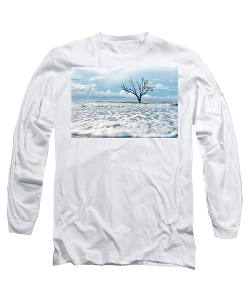 Long Sleeve T-Shirt featuring the photograph Surfside Tree by Phyllis Peterson