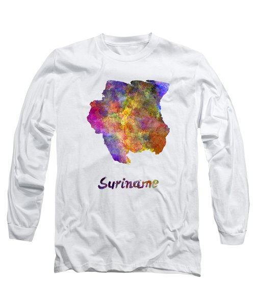Suriname In Watercolor Long Sleeve T-Shirt