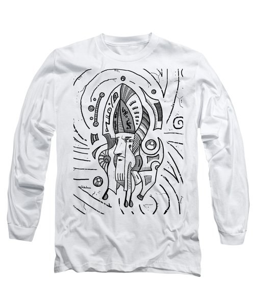 Surrealist Head Long Sleeve T-Shirt by Sotuland Art