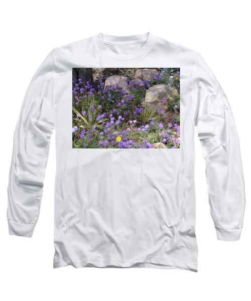 Surrounded By Purple Flowers Long Sleeve T-Shirt