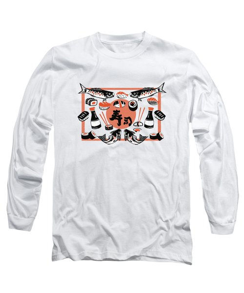Sushi And Soy Sauce Long Sleeve T-Shirt