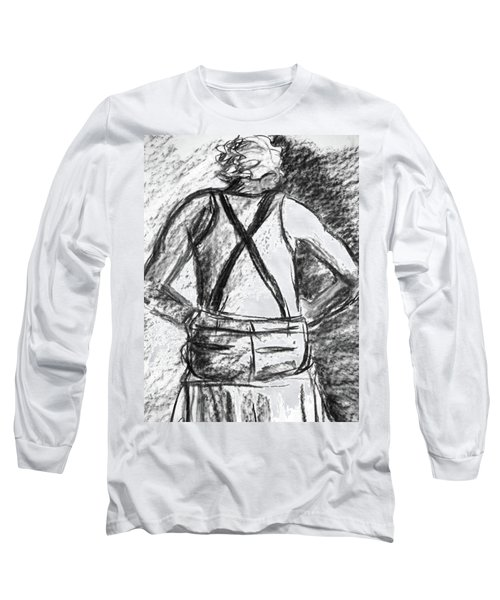 Long Sleeve T-Shirt featuring the painting Suspenders by Cathie Richardson