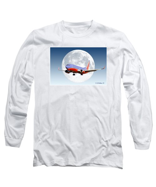 Sw Moon Long Sleeve T-Shirt by Brian Wallace