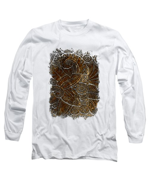 Swan Dance Earthy 3 Dimensional Long Sleeve T-Shirt by Di Designs