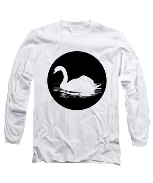 Swan Long Sleeve T-Shirt by Mordax Furittus