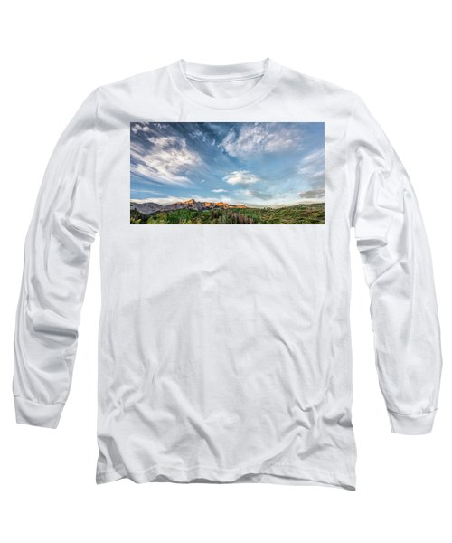Long Sleeve T-Shirt featuring the photograph Sweeping Clouds by Jon Glaser