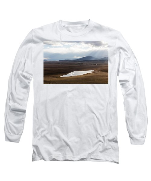Long Sleeve T-Shirt featuring the photograph Sweeping Plain And A Small Lake Between Mountain Foothills Near Fairplay In Park County by Carol M Highsmith