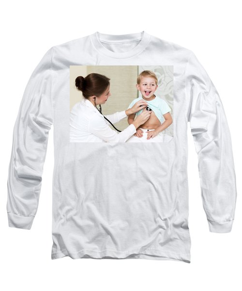 Sweet Child Visiting Doctor Long Sleeve T-Shirt