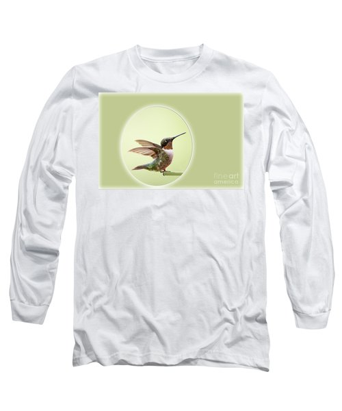 Long Sleeve T-Shirt featuring the photograph Sweet Little Hummingbird by Bonnie Barry