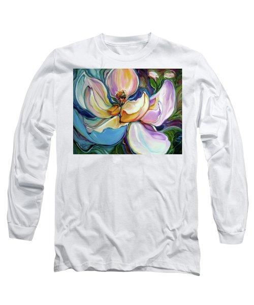 Sweet Magnoli Floral Abstract Long Sleeve T-Shirt