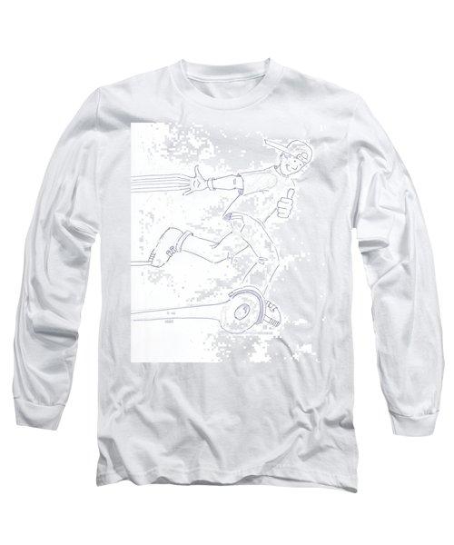 Swegway Hoverboard Fun Cartoon Long Sleeve T-Shirt