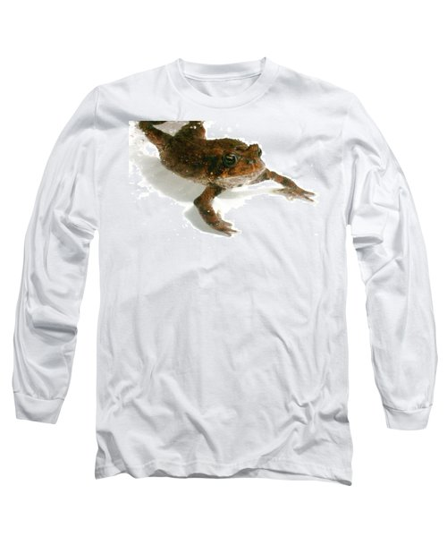 Long Sleeve T-Shirt featuring the digital art Swimming Toad by Barbara S Nickerson