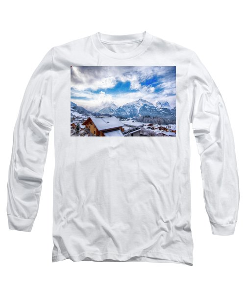 Swiss Alps Long Sleeve T-Shirt by Pravine Chester
