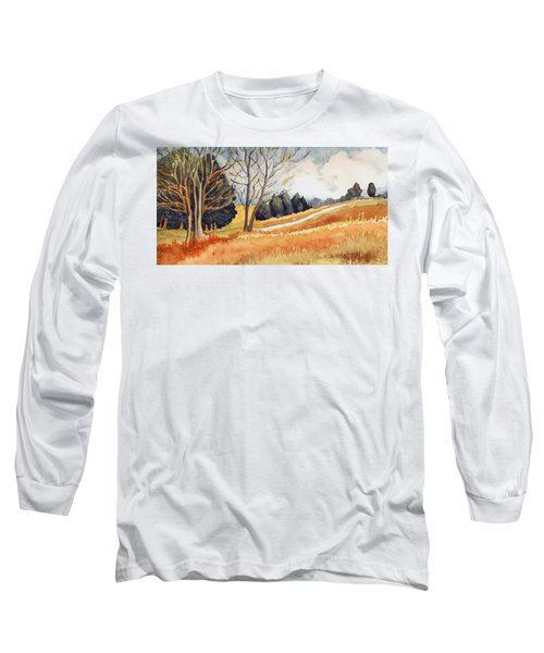 Long Sleeve T-Shirt featuring the painting Switchboard Rd by Katherine Miller