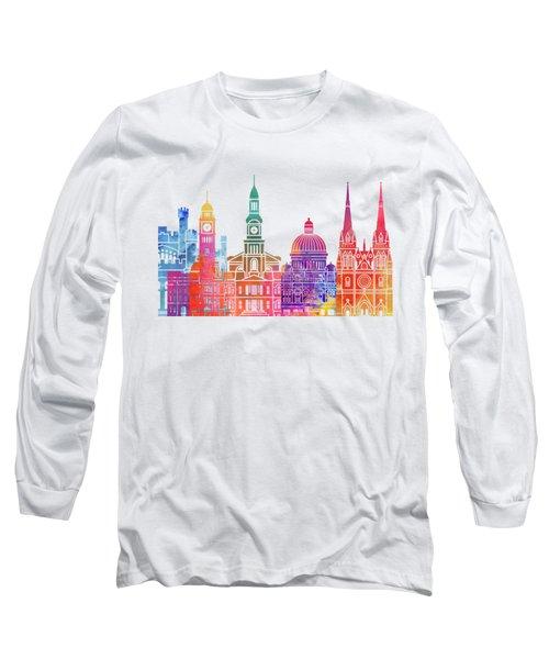 Sydney  Landmarks Watercolor Poster Long Sleeve T-Shirt