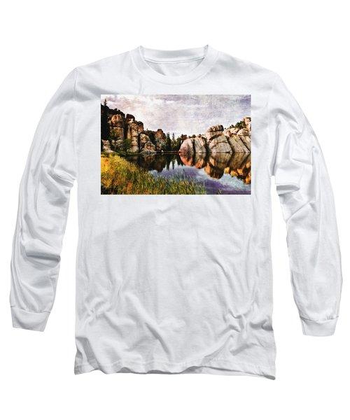 Sylvan Lake - Black Hills Long Sleeve T-Shirt by Ellen Heaverlo