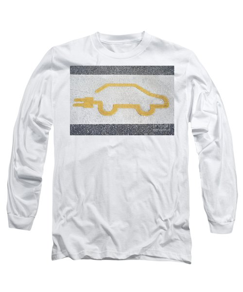 Symbol For Electric Car Long Sleeve T-Shirt