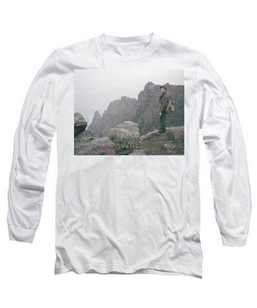 T-04701 Fred Beckey On Mt. Si 1958  Long Sleeve T-Shirt