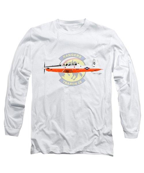 T-6b Texan II Vt28 Long Sleeve T-Shirt by Arthur Eggers