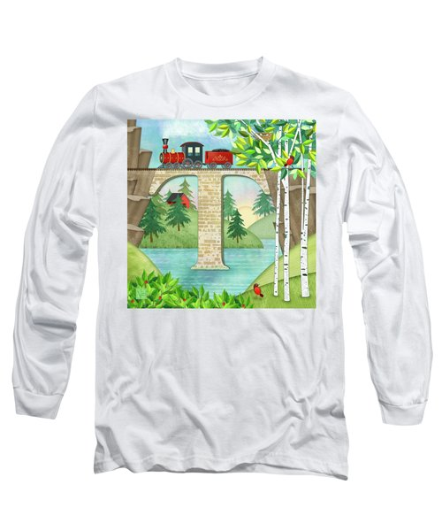 T Is For Train And Train Trestle Long Sleeve T-Shirt