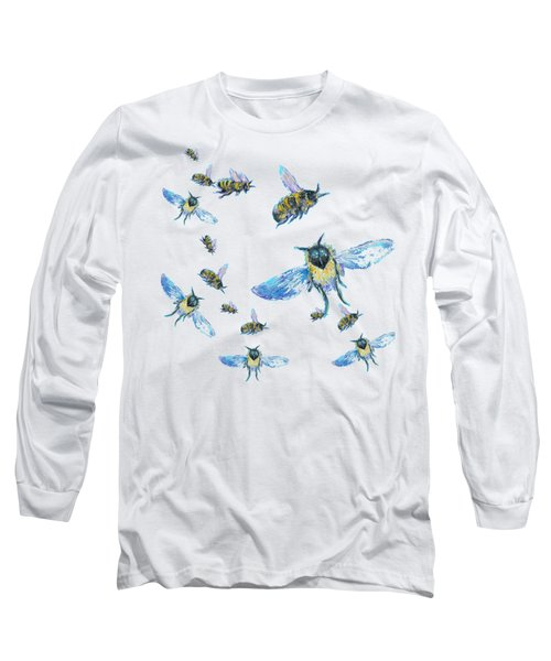 T-shirt With Bees Design Long Sleeve T-Shirt