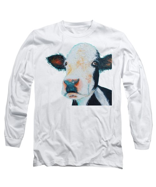 T-shirt With Cow Design Long Sleeve T-Shirt