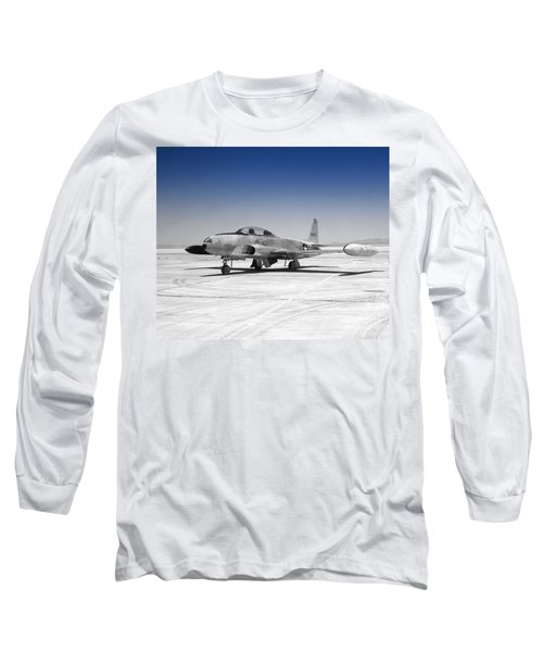 Long Sleeve T-Shirt featuring the photograph T33 A Jet by Greg Moores
