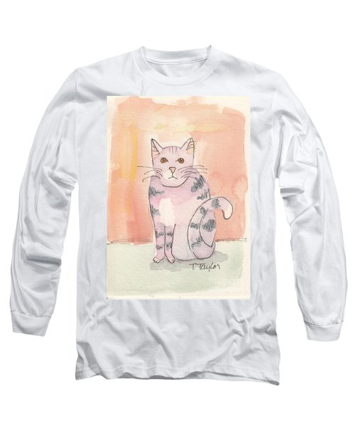 Long Sleeve T-Shirt featuring the painting Tabby by Terry Taylor