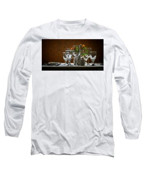 Long Sleeve T-Shirt featuring the photograph Table Setting by Joe Bonita