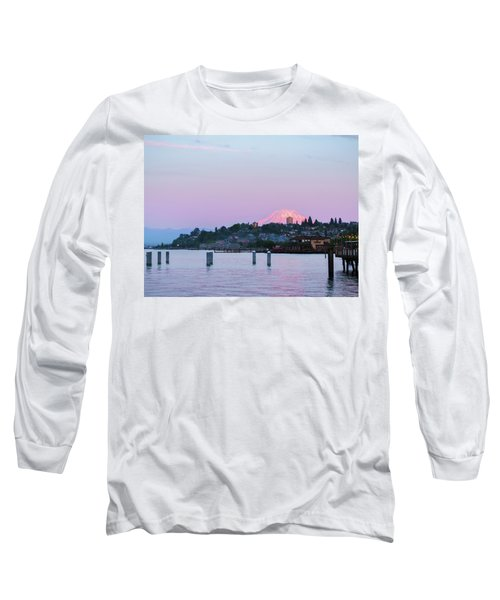Tacoma Sunset Long Sleeve T-Shirt by Ken Stanback