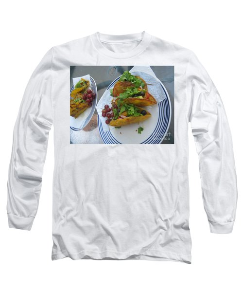 Long Sleeve T-Shirt featuring the photograph Tacos Almost Mirrored by Marie Neder