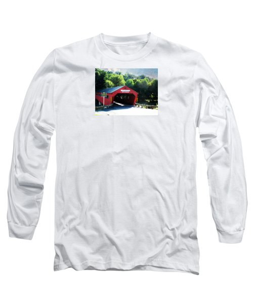 Taftsville Covered Bridge Long Sleeve T-Shirt by Robin Regan