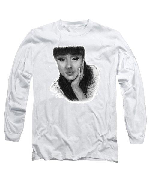 Ariana Grande Drawing By Sofia Furniel Long Sleeve T-Shirt