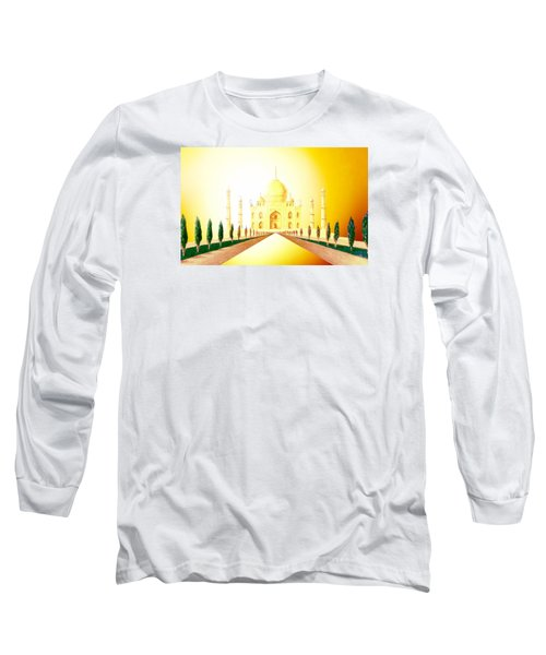 Taj  Mahal Long Sleeve T-Shirt by Hartmut Jager
