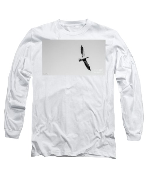 Take Flight, Black And White Long Sleeve T-Shirt
