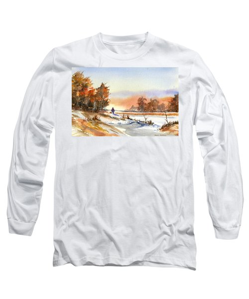 Taking A Walk Long Sleeve T-Shirt by Debbie Lewis