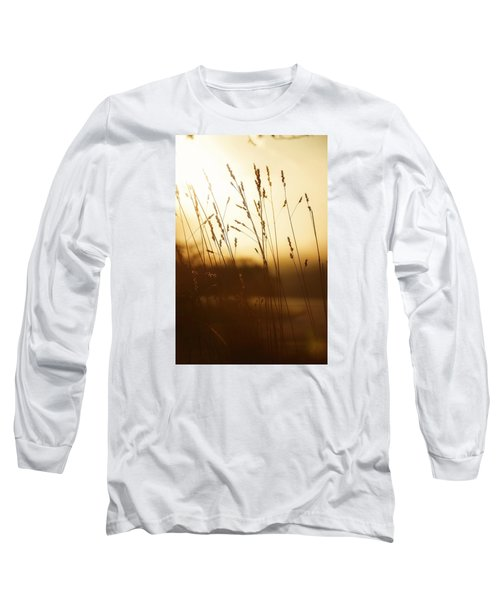 Tall Grass In The Morning Long Sleeve T-Shirt by Nikki McInnes