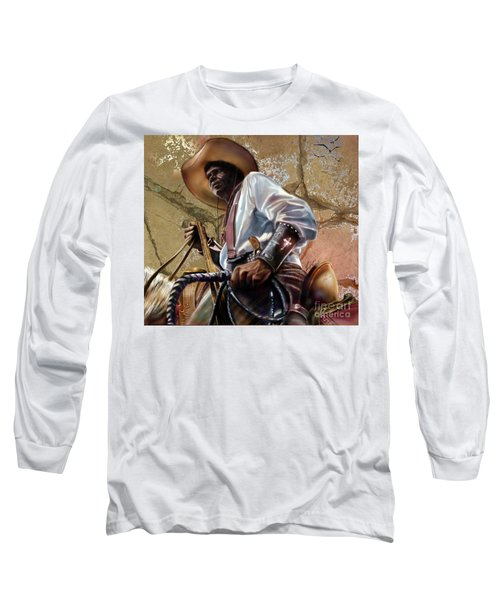 Tall In The Saddle Cowboy Pride 1a Long Sleeve T-Shirt